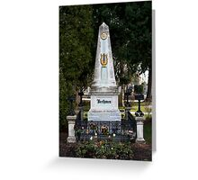 Grave Of Ludwig Van Beethoven Greeting Card