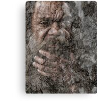 Aboriginal on paperbark  Canvas Print