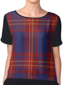 01128 Butler Fashion Tartan Chiffon Top