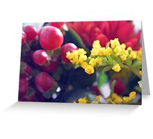 Watercolor style natural background with beautiful colorful flower petals and leaves. Greeting Card