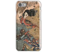 Utagawa Kunisada - Kinhyoshi Yorin. Man portrait: strong man,  samurai ,  hero,  costume,  kimono,  tattoos ,  sport,  sumo, manly, sexy men, macho iPhone Case/Skin