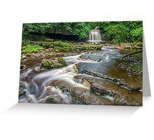 West Burton Falls Yorkshire Dales Greeting Card