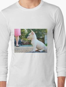 Puppy takes a break Long Sleeve T-Shirt