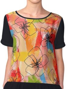 Hibiscus Family #1 by Lenna Chiffon Top