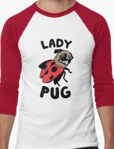 lady pug Men's Baseball ¾ T-Shirt