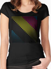 The Circle Stripes  Women's Fitted Scoop T-Shirt