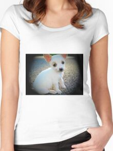 Puppy dog eyes Women's Fitted Scoop T-Shirt