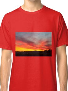 fiery sunset of Yellow orange and red  Classic T-Shirt