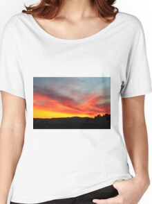 fiery sunset of Yellow orange and red  Women's Relaxed Fit T-Shirt