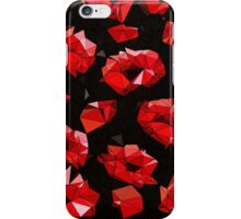Triangle Red Kisses  iPhone Case/Skin