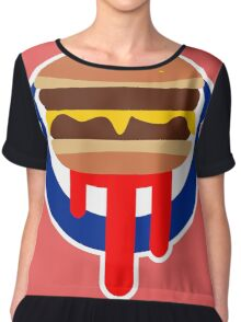 Burger Was Made For Me And You Chiffon Top