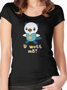U wott m8? Women's Fitted Scoop T-Shirt