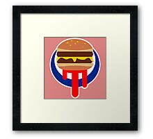 Burger Was Made For Me And You Framed Print
