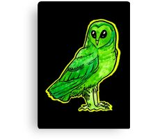 alien owl Canvas Print