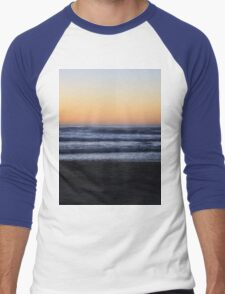 Orange Sunset on the Oregon Coast Men's Baseball ¾ T-Shirt