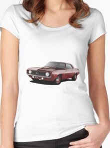 1969 Chevrolet Camaro - Red Women's Fitted Scoop T-Shirt