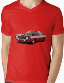 1969 Chevrolet Camaro - Red Mens V-Neck T-Shirt