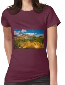 Amadorio and the mountains Womens Fitted T-Shirt