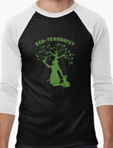 Eco-Terrorist Men's Baseball ¾ T-Shirt