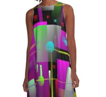Crazy Beautiful Abstract  A-Line Dress