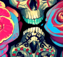 Skulls and Flowers Sticker