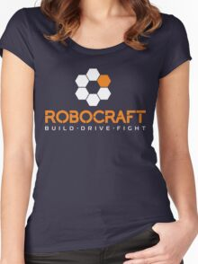 Robocraft Logo (White) Women's Fitted Scoop T-Shirt