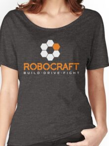 Robocraft Logo (White) Women's Relaxed Fit T-Shirt