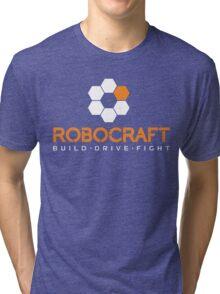 Robocraft Logo (White) Tri-blend T-Shirt