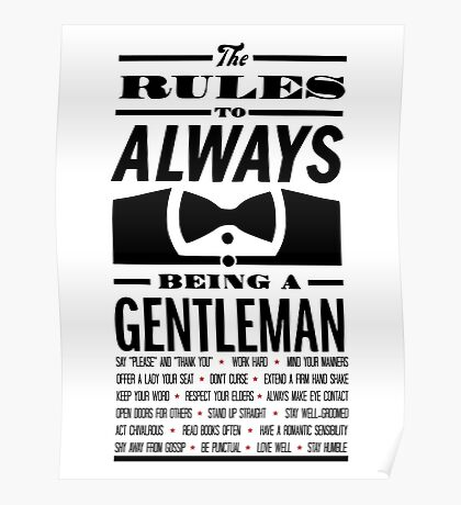 To be a Gentleman Poster