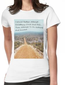Attempt Something Great Womens Fitted T-Shirt