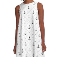 Anchors A-Line Dress