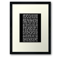 Rock Paper And Scissors Framed Print