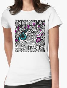 Miniature Tangle 14 Var 2  - I've Got My Eye On You Womens Fitted T-Shirt