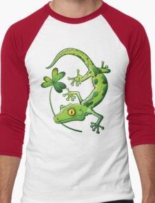 Saint Patrick's Day Gecko Men's Baseball ¾ T-Shirt