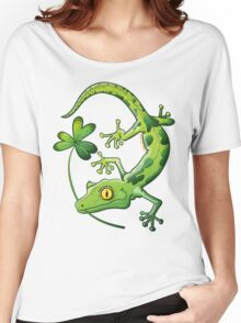 Saint Patrick's Day Gecko Women's Relaxed Fit T-Shirt