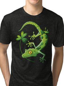 Saint Patrick's Day Gecko Tri-blend T-Shirt
