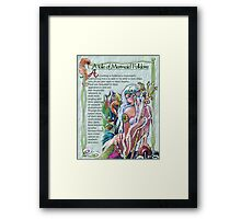 Mermaid Folklore FUN FACTS Framed Print