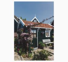Dutch Country Charm - a Beautiful Little Cottage with Flowers Kids Tee