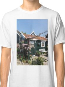 Dutch Country Charm - a Beautiful Little Cottage with Flowers Classic T-Shirt