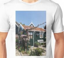 Dutch Country Charm - a Beautiful Little Cottage with Flowers Unisex T-Shirt