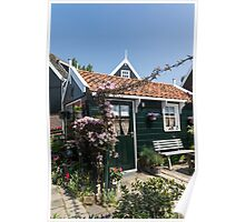 Dutch Country Charm - a Beautiful Little Cottage with Flowers Poster