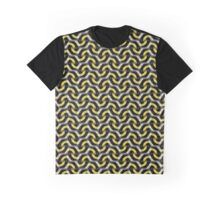 Gold Chain Optical Pattern Graphic T-Shirt