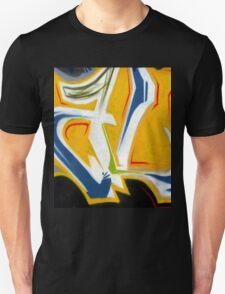 Abtag Yellow blue stripe Unisex T-Shirt