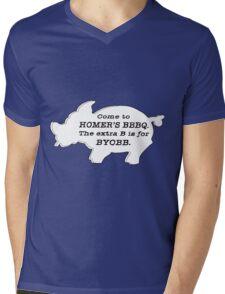 The Simpsons - Homer's BBBQ Mens V-Neck T-Shirt