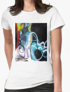 Abtag - misty blue in black Womens Fitted T-Shirt