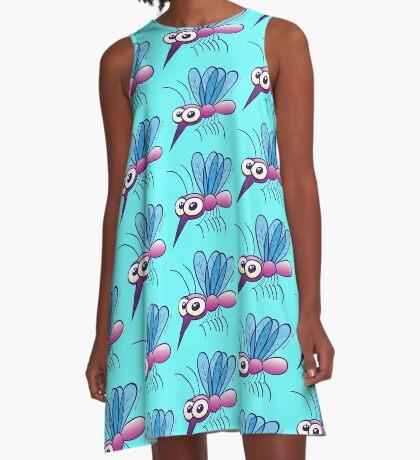Cute Purple Mosquito A-Line Dress