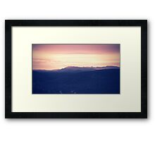 Going to rise up, find my direction magnetically Framed Print