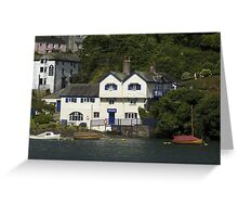 Ferryside in Fowey the house where Daphne du Maurier wrote her first novel.  Greeting Card