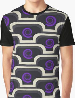 Pattern with Purple Graphic T-Shirt