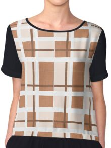 Abstract houndstooth Chiffon Top